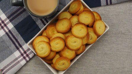 Biscotti al burro: pronti con soli 6 ingredienti e in 15 minuti!
