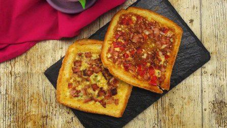 2 modi per preparare dei toast saporiti e veloci in 5 minuti!