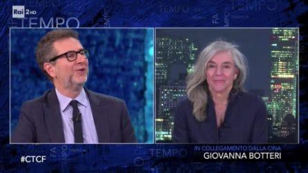 """Giovanna Botteri a Fabio Fazio: """"Ho messo la giacca per te"""""""