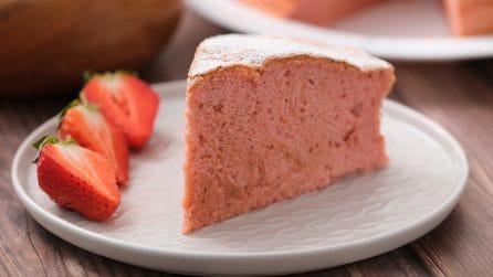 Blended strawberry cake: moist and fluffy!