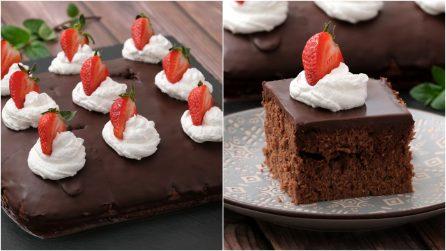 Quadrotti fragole e cioccolato: il dessert unico e facile da preparare!