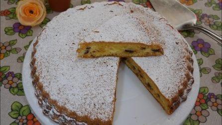 Torta versata con mascarpone e gocce di cioccolato: la ricetta del dessert delizioso