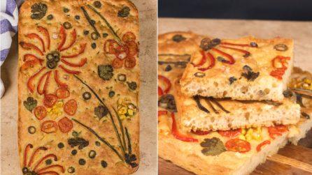 Focaccia fantasia: il pane decorato che lascerà tutti senza parole!