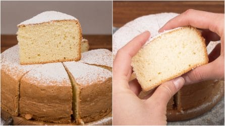 6 ingredients sponge cake: how to make a fluffy cake without baking powder!