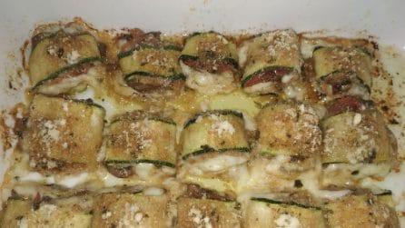 Involtini di zucchine: la ricetta del contorno ricco e saporito