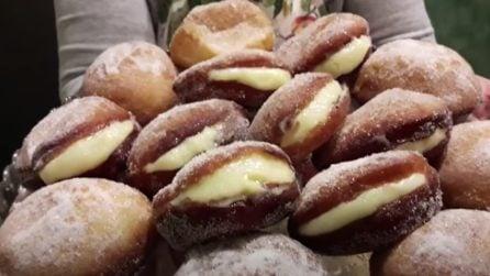 Krapfen alla crema: un dessert super soffice e golosissimo