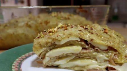 Lasagna pistacchi e mortadella: la ricetta del primo piatto gustoso