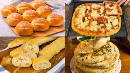 4 ricette per fare il pane o la pizza in casa dal risultato garantito!