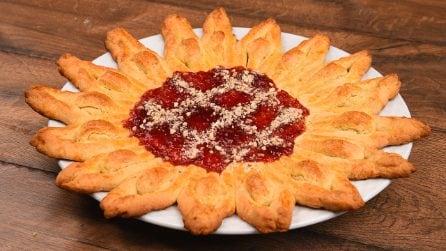 Girasole di pasta frolla morbida e marmellata: l'idea originale per una merenda golosa!