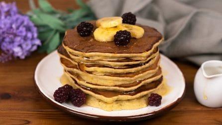 Pancakes alla banana: morbidi e golosi come non li avete mai provati!