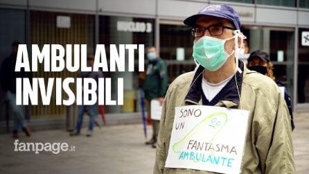 """Protesta degli ambulanti davanti a Palazzo Lombardia: """"Dove andiamo a mangiare con 600 euro?"""""""