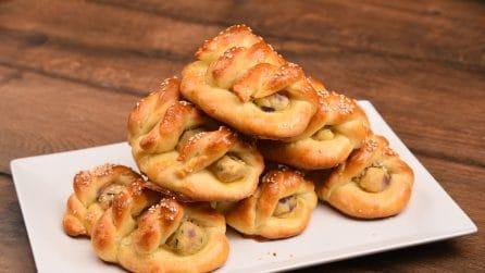 Treccine brioche ripiene di patate: sono ideali per una cena veloce e sfiziosa!