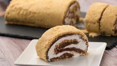 Rotolo al cioccolato senza cottura: la ricetta golosa che piacerà a grandi e piccini!