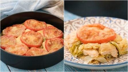 Torta di cavolo cappuccio e pollo: l'idea leggera e saporita per una cena piena di gusto!