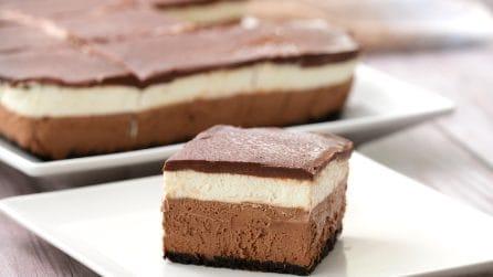 Cheesecake al doppio cioccolato senza cottura: il dolce godurioso da provare!
