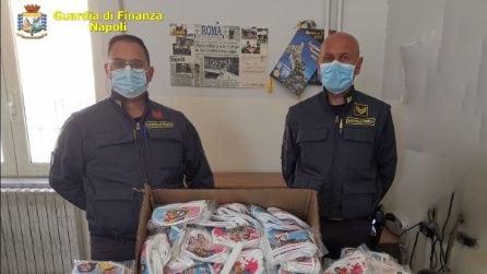 Napoli, sequestrate mascherine per bambini non a norma e contraffatte
