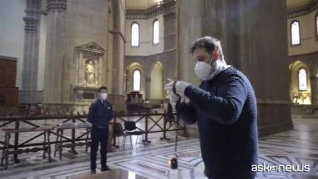 Al Duomo di Firenze un dispositivo per i turisti anti-contagio