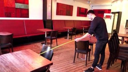 Bar e ristoranti in Germania riaprono con i tavoli distanziati