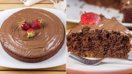 3 ingredients fluffy chocolate cake: you only need biscuits, milk and baking powder!