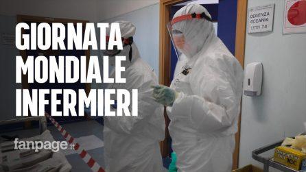 Giornata mondiale dell'infermiere, parlano donne e uomini dietro camici e mascherina