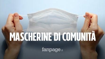 Mascherine di comunità, cosa sono e che differenza c'è con quelle chirurgiche
