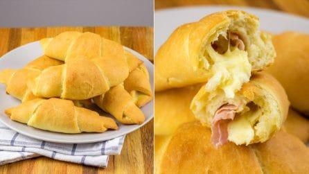 Cornetti di patate salati: il loro interno filante vi conquisterà al primo assaggio!