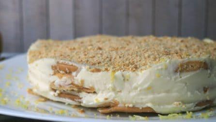 Torta senza cottura al limone: la ricetta del dessert cremoso e buonissimo