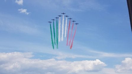 Frecce Tricolori su Napoli, oggi spettacolo sul Golfo
