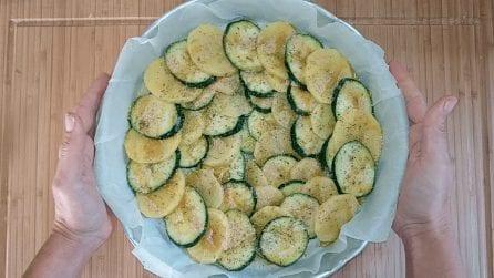 Sformato di zucchine e patate: la ricetta del contorno veloce e gustoso