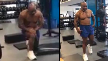 Mike Tyson scalda i muscoli: è pronto a tonare sul ring