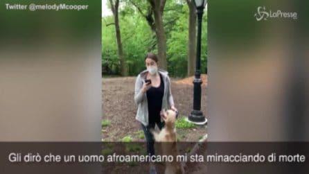 """New York, reazione razzista di una donna Central Park: """"Un nero mi attacca"""""""