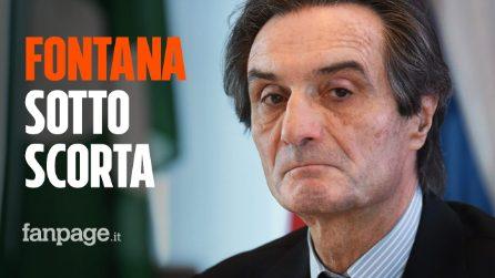 """Minacce ad Attilio Fontana, il presidente sotto scorta: """"Clima teso, timore di gesti pericolosi"""""""