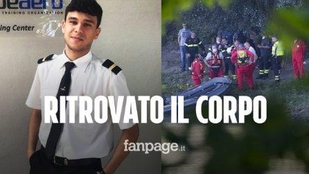 Daniele Papa, ritrovato il corpo del 23enne: era ancora seduto al lato del passeggero