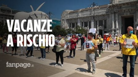 """Milano, protestano agenzie viaggio e tour operator: """"Uno su tre non ce la farà"""""""