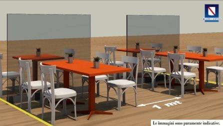 Campania, la disposizione dei tavoli nei ristoranti con le norme di sicurezza
