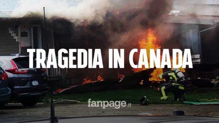 Canada, aereo acrobatico precipita durante omaggio al personale sanitario: un morto e un ferito