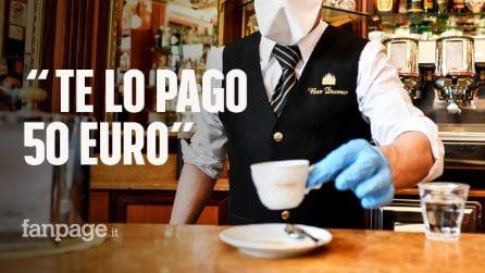 """Paga 50 euro il primo caffè dopo il lockdown: """"Tenete il resto, è il minimo che io possa fare"""""""