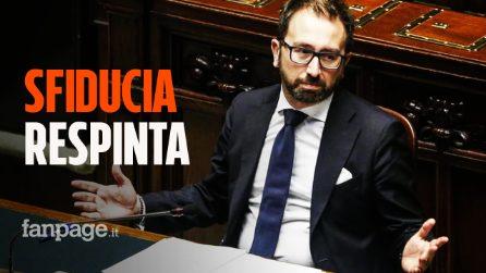 Bonafede, respinta la mozione di sfiducia: il Senato salva il ministro della Giustizia
