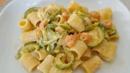 Pasta gamberetti e zucchine: la ricetta del primo piatto delizioso