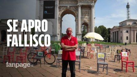 """Milano, ristoratore dorme all'Arco della Pace per protesta: """"Il governo ci faccia ripartire con dignità"""""""