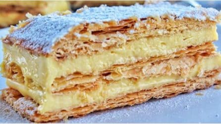 Millefoglie alla crema: la ricetta del dessert che tutti amano