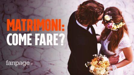 Matrimoni 2020 e Coronavirus: tutte le rinunce che dovranno fare gli sposi e le regole da seguire