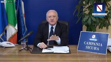 """De Luca: """"Campania divina. La nostra regione è benedetta da Dio"""""""