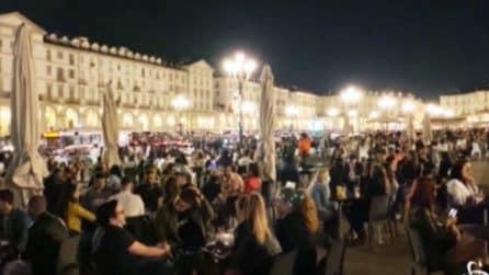 Piazze e locali invasi: la notte di Torino