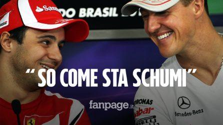 """Felipe Massa: """"So come sta Schumacher, vive una situazione complicata e prego per lui"""""""
