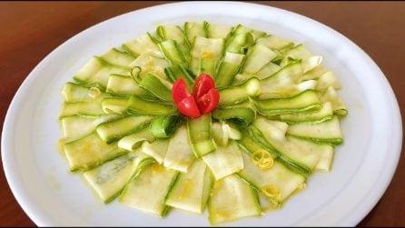 Tagliata di zucchine marinate: la ricetta del contorno semplice e saporito