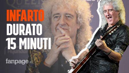 """Brian May ha avuto un infarto, il chitarrista dei Queen: """"15 minuti di dolore in petto e sudore"""""""