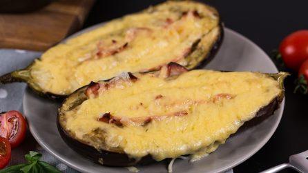 Melanzane ripiene al forno: la ricetta facile per una cena gustosa e pronta in pochi passi!