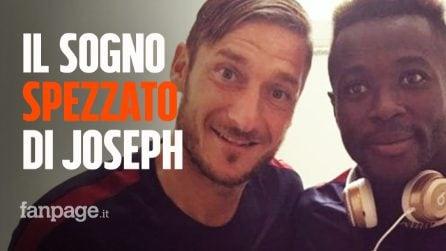 Morto Joseph Perfection: la storia del 21enne rifugiato, diventato calciatore, che esordì nella Roma