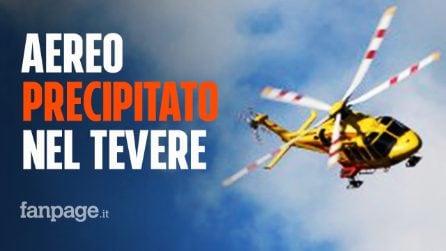 Roma, aereo biposto precipita nel Tevere: salvato il pilota, disperso l'allievo